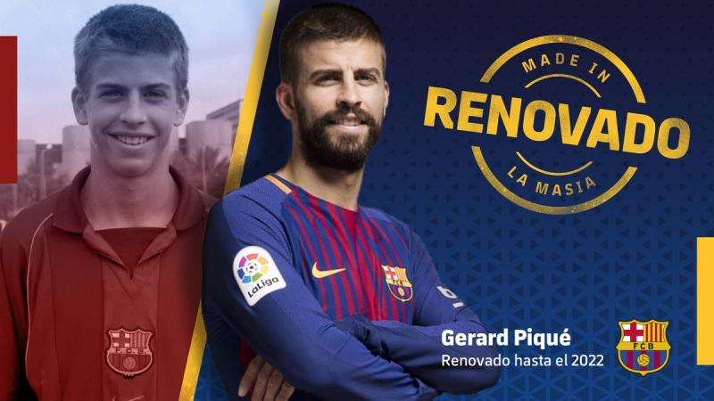 Piqué firma, Barcelona blinda a su defensa hasta 2022