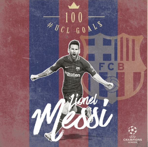 Messi marcó su gol ¡100! en Champions League