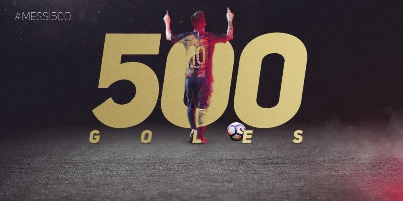 VIDEO. Los 500 goles de Messi con el club Barcelona